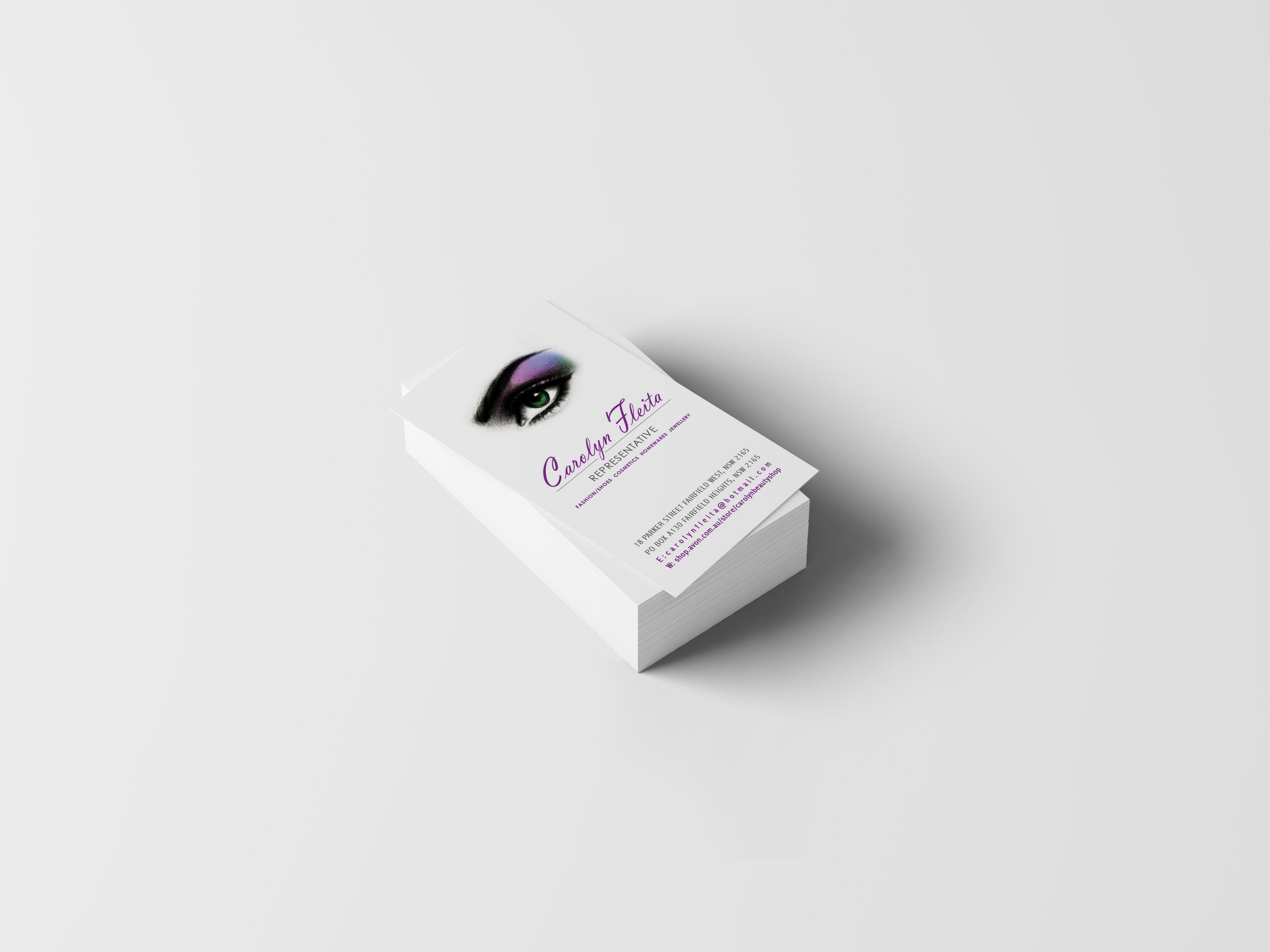 Avon Business Card updated - NF Designs